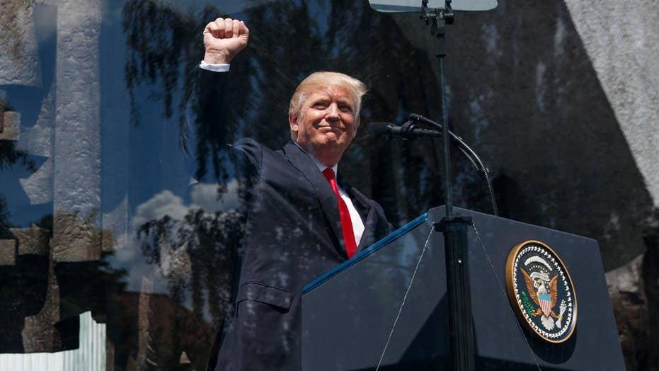 Trump defends western civilization during address in Poland