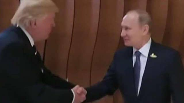 President Trump and Vladimir Putin meet face-to-face