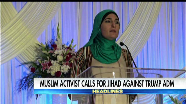 """Sarsour calls for """"jihad"""" to oppose Trump."""