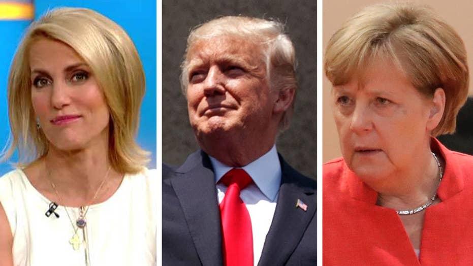 Ingraham: Merkel irked by Trump's America first policy