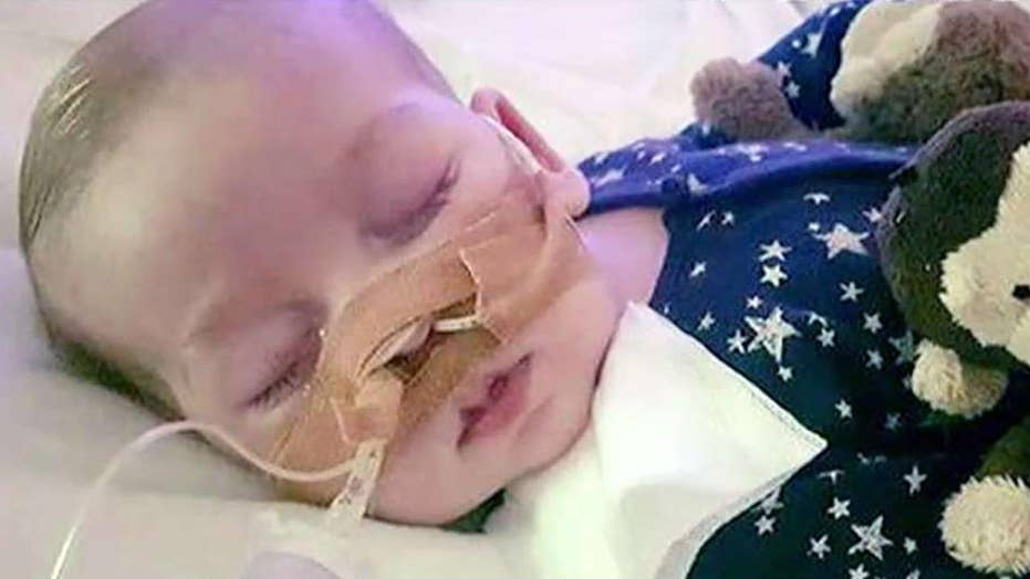 Trump to 'confront' May over infant Charlie Gard