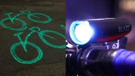 The Blaze Laserlight shines 20 feet in front of the cyclists to alert motorists and pedestrians. Now New York City's Citi Bike is partnering with Blaze to make the streets safer.