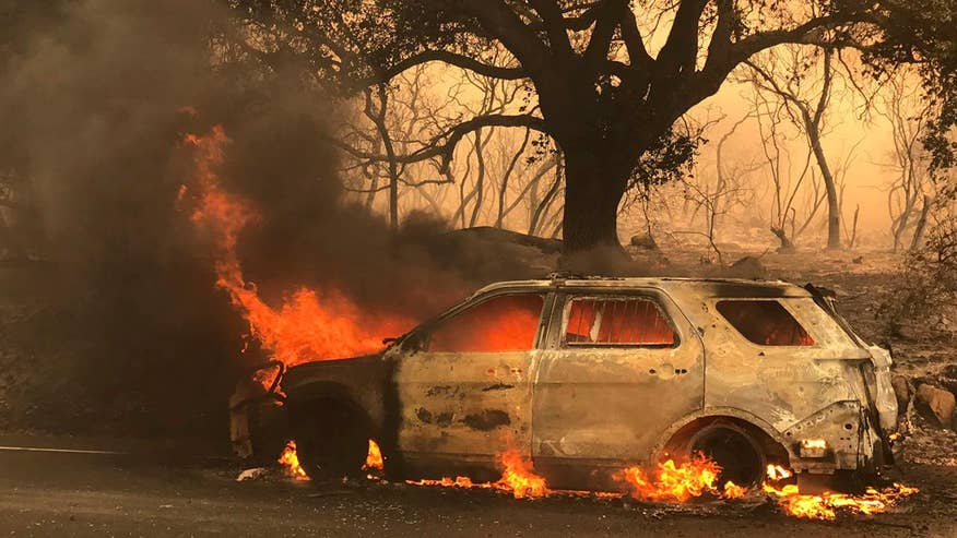 Some 5,000 firefighters are battling more than a dozen wildfires in California; William La Jeunesse reports from Los Angeles