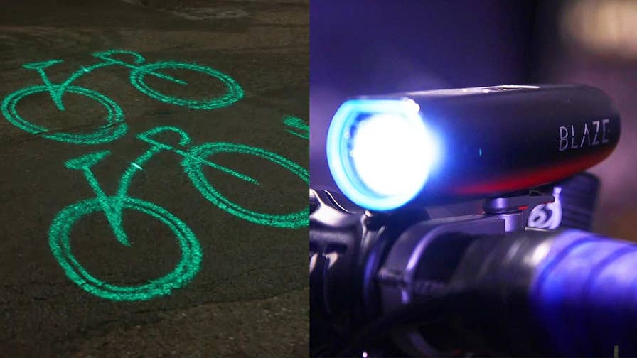 Smart & Safe Tech: The Blaze Laserlight shines 20 feet in front of the cyclists to alert motorists and pedestrians. Now New York City's Citi Bike is partnering with Blaze to make the streets safer
