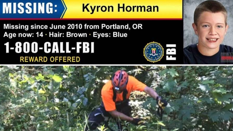 Raw video: Investigators scour heavily forested area five miles from Skyline Elementary School in Portland, Oregon