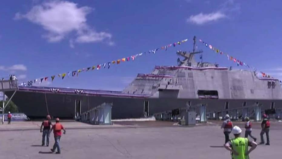 Anchors aweigh! Navy launches newest ship: the USS Billings