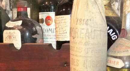 Raw video: Two-centuries-old wine and liquors discovered at The Liberty Hall Museum in Union, New Jersey