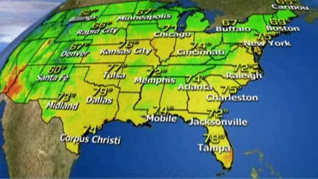 National forecast for Tuesday, July 11