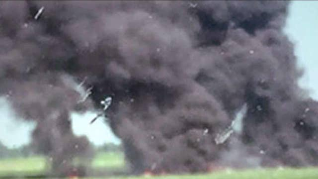 Witness: Force of crash nearly flattened military plane