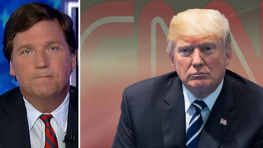 Tucker mocks CNN's Chris Cuomo's defense on Facebook of his network's wall-to-wall coverage of the Russian collusion scandal following his lengthy, contentious interview with Trump counselor Kellyanne Conway #Tucker