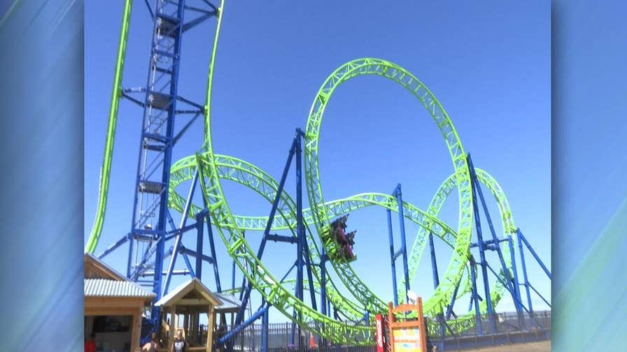 Casino Pier in Seaside Heights, New Jersey opens Hydrus replacing ride which fell into Atlantic Ocean after 2012 storm
