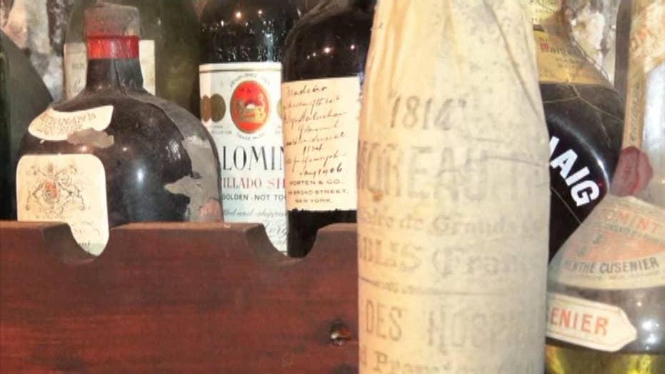 Prohibition-era wall demo reveals Colonial-era wine cellar