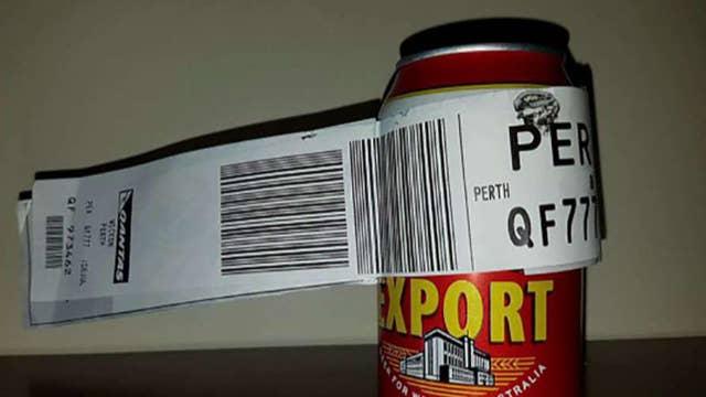 Australian man checks single beer can as luggage for flight