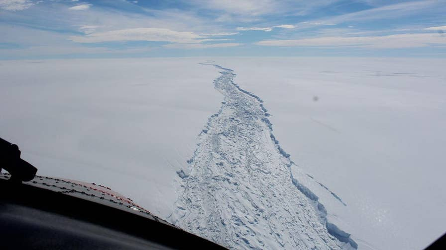 An iceberg the size of Delaware has broken off from Antarctica that has some experts worried about the potential threat to passing ships and rising sea levels