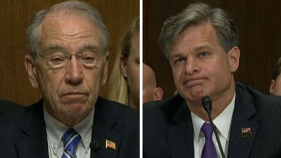 Grassley questions Wray on independence of FBI
