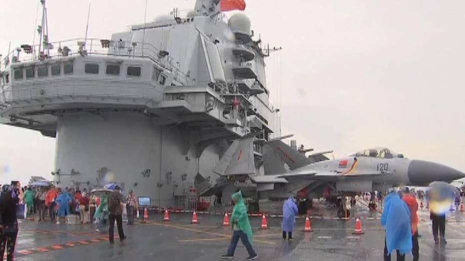 Chinese aircraft carrier Liaoning visits Hong Kong