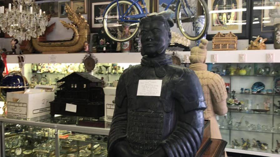 Las Vegas antiquities and oddities on display in shop with thousands of objects