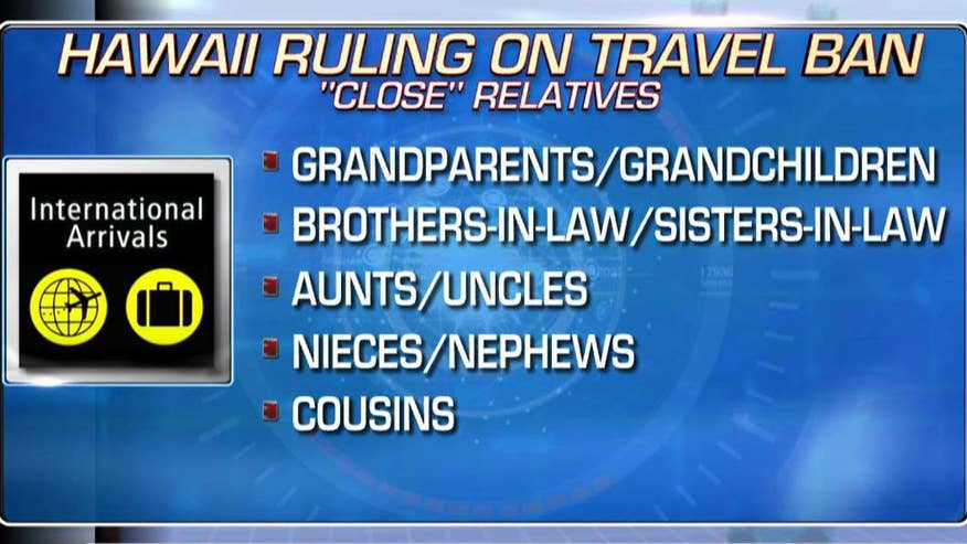 Hawaii judge exempts grandparents, other relatives from travel ban