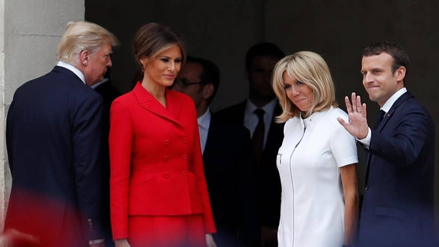 Raw video: President heard commenting on Brigitte Macron's body during trip to Paris
