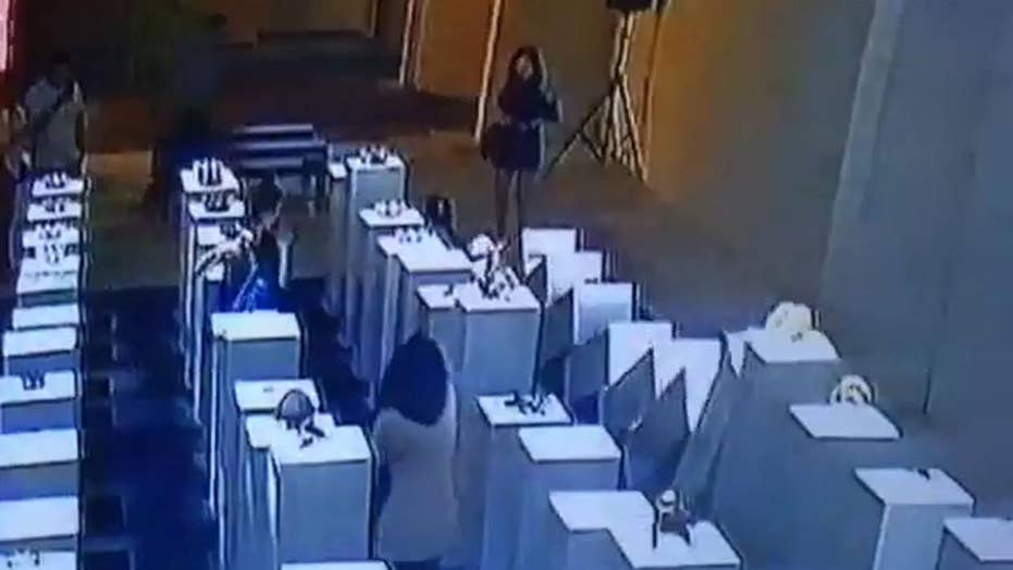 Is it a stunt? Selfie-taker causes major damage to art