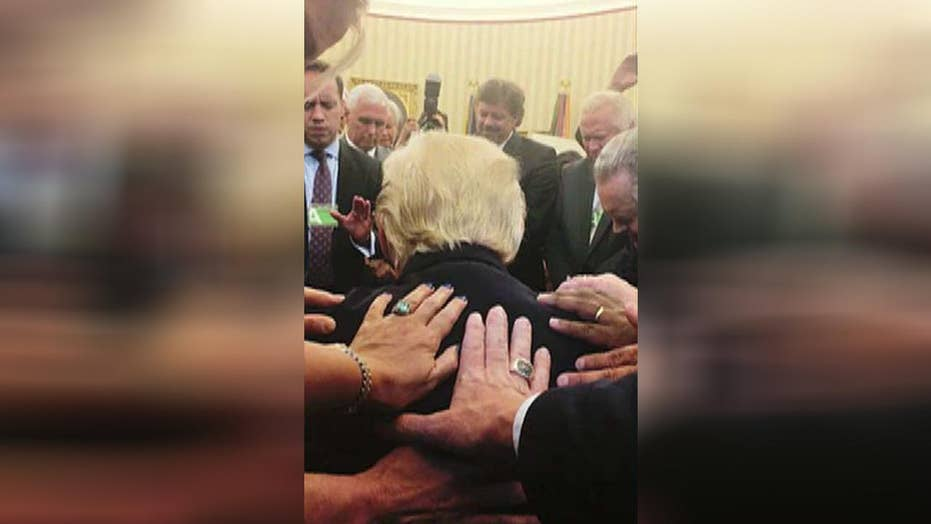 The truth behind the Oval Office prayer circle