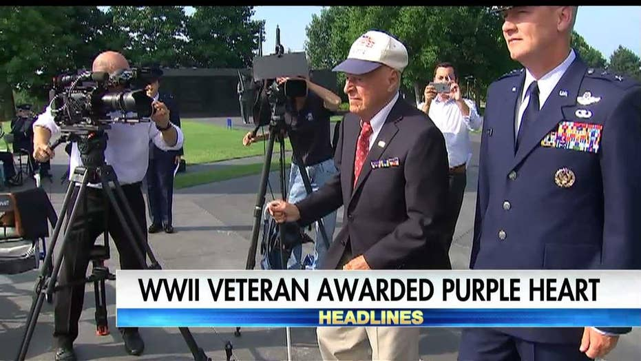 WW2 vet finally gets Purple Heart
