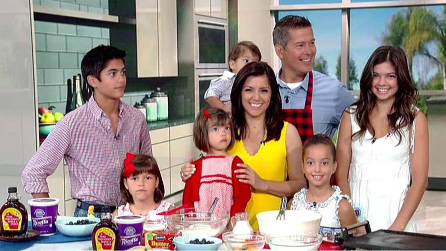 Congressman Sean Duffy, Fox News contributor Rachel Campos-Duffy and their kids prepare the recipe