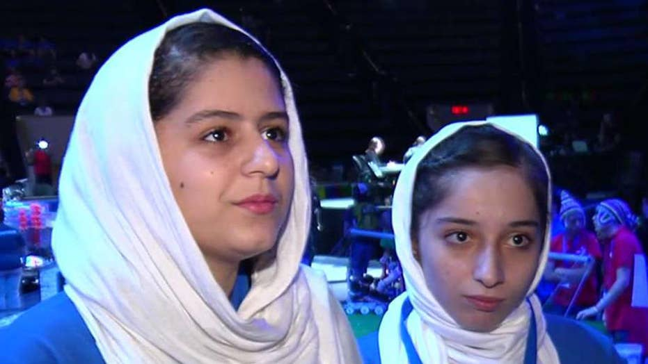 Trump helps Afghan girls' robotics team compete in US