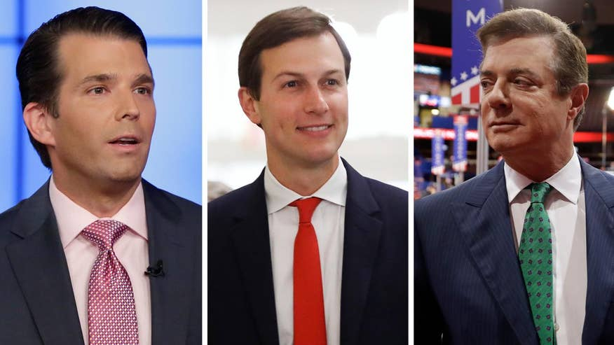 Donald Trump Jr. and Paul Manafort will appear before the Senate Judiciary Committee; Jared Kushner to testify in closed session of Senate Intelligence Committee