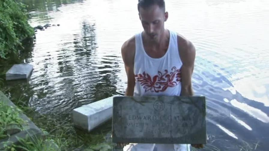 Mysterious grave markers have residents, officials, puzzled