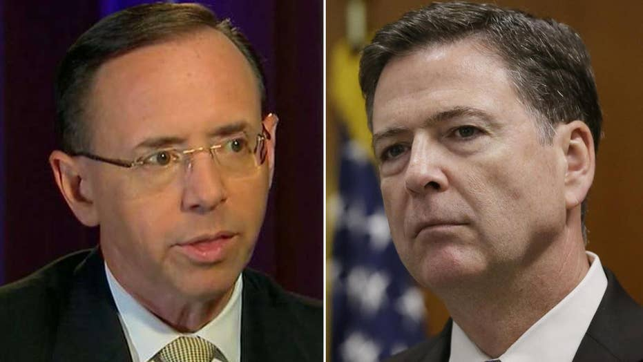 Rosenstein on the firing of Comey and appointment of Mueller