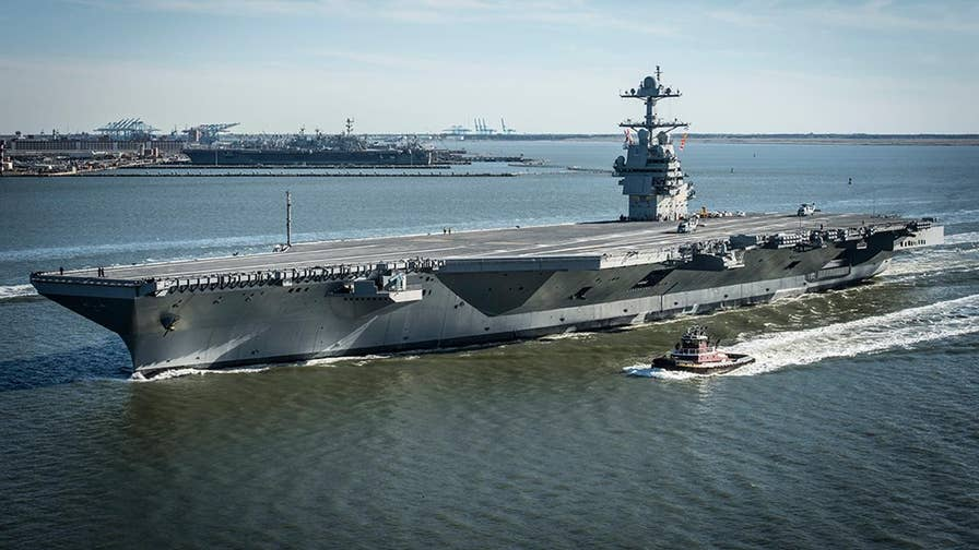 A look at some of the state-of-the-art features in the USS Gerald Ford, the latest warship to join the Navy's impressive fleet