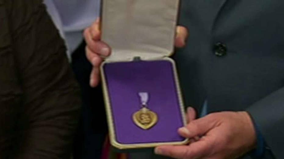 NY family reunited with long lost Purple Heart