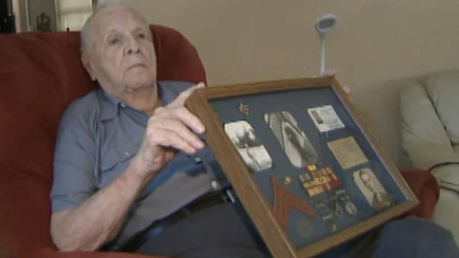 Marines rally around the 92-year-old World War II vet