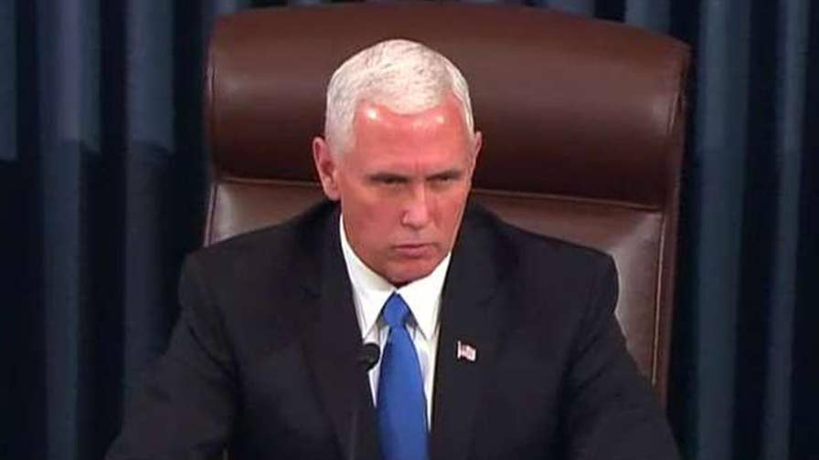 Vice President Pence casts tie-breaking vote