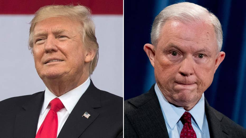 Trump targets Sessions for 'weak' position on Clinton