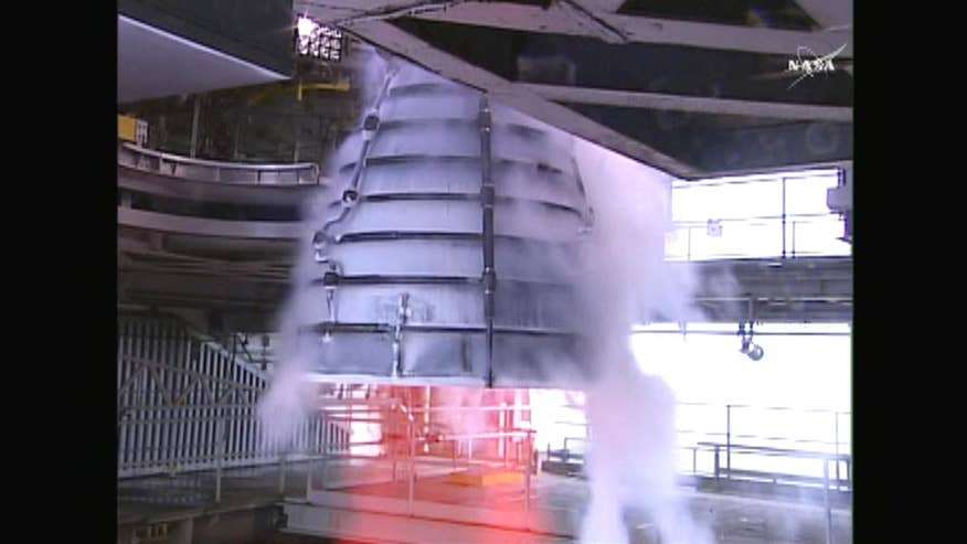 Raw video: Space agency test fires RS-25 rocket engine in Bay St. Louis, Mississippi