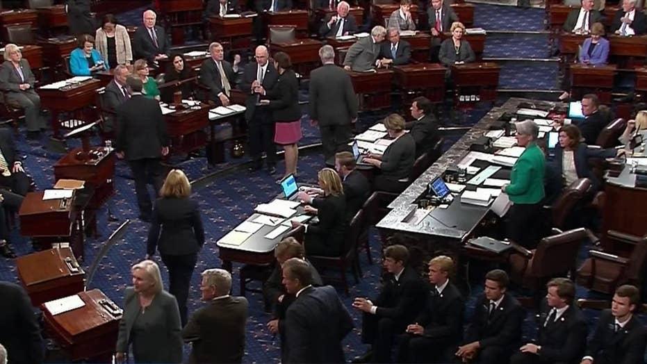 Senate Republicans win health care bill showdown