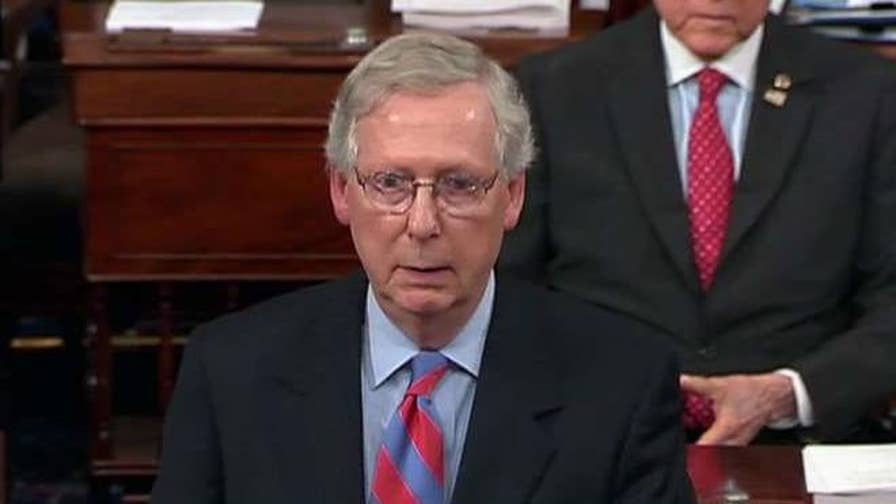 Senate majority leader addresses Senate as 'skinny repeal' of ObamaCare fails after Republican Sens. McCain, Murkowski and Collins vote no