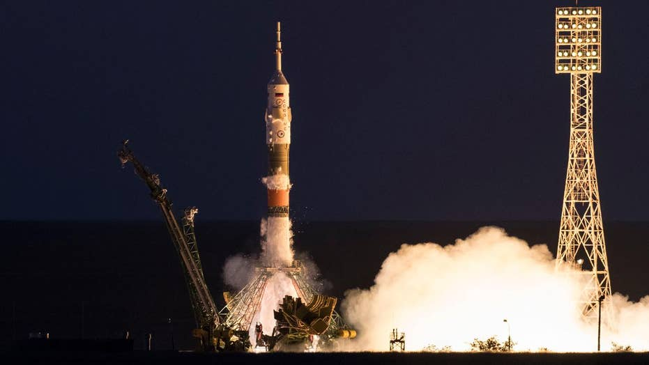 NASA astronaut blasts off on mission to ISS