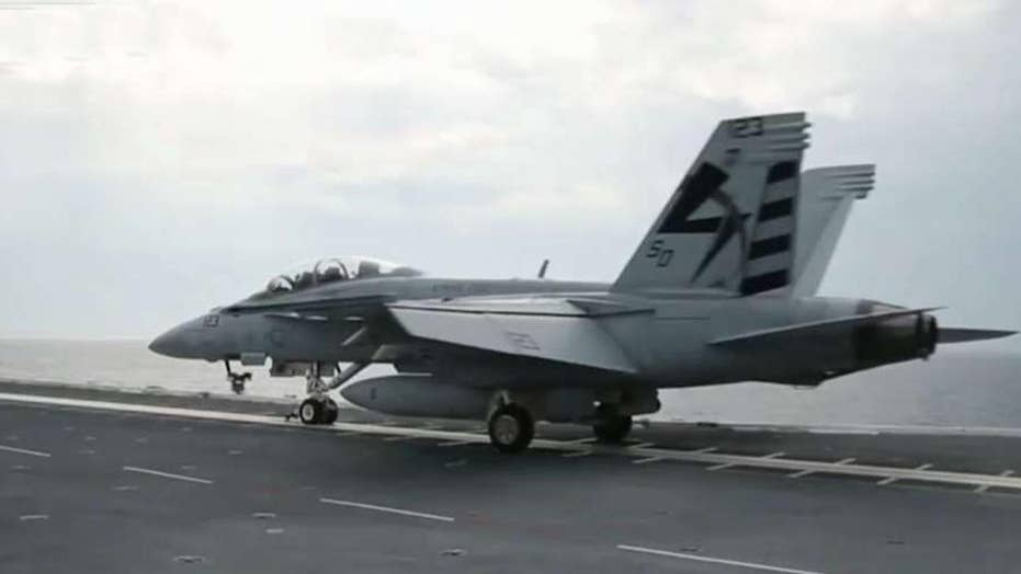 USS Gerald R. Ford makes history with use of catapult system
