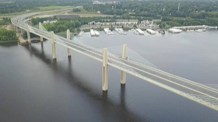 Raw video: The Minnesota Department of Transportation spent years building the new bridge