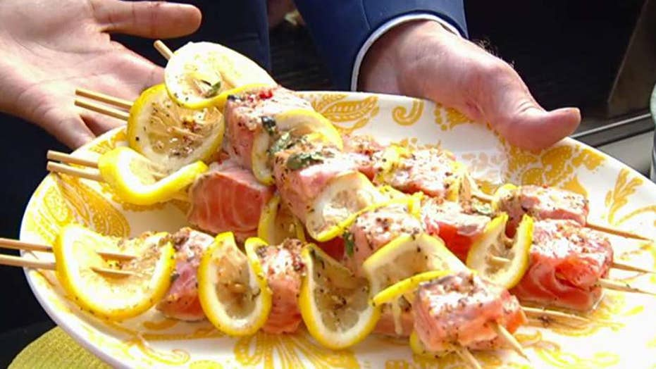 Cooking with 'Friends': Eboni's grilled salmon kebabs