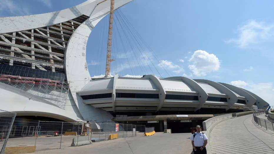 Montreal's Olympic Stadium now a temporary refugee shelter
