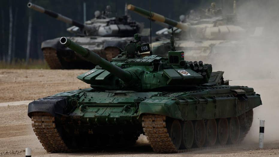 Gigantic tank battle competition going on in Russia