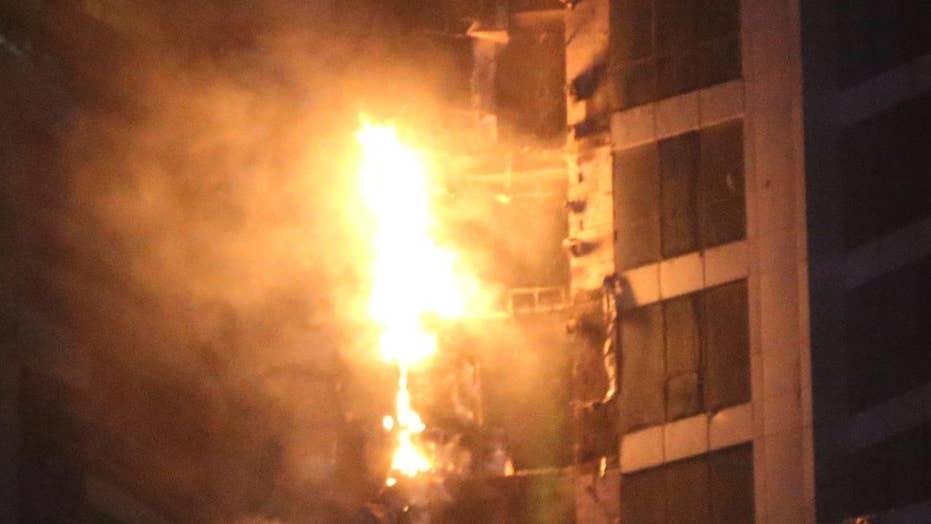 Massive fire engulfs Dubai skyscraper