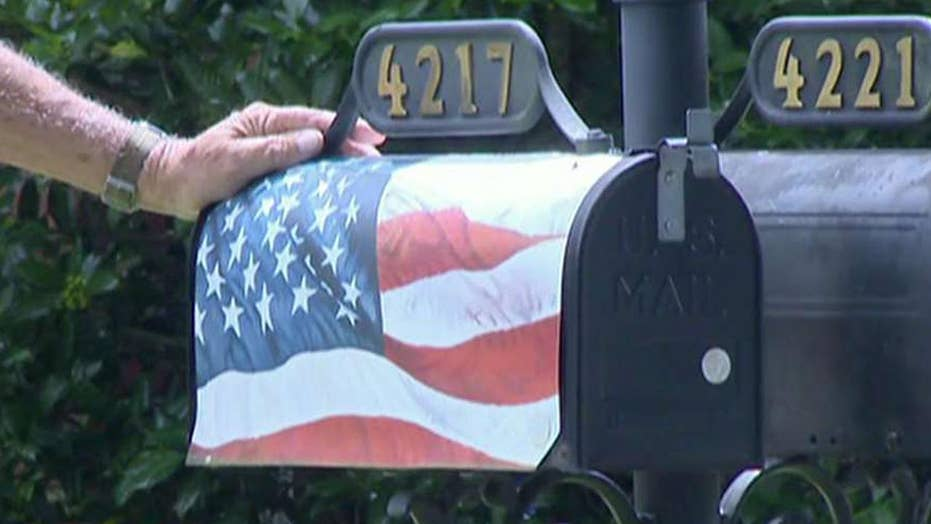 Veteran banned from putting American flag on mailbox