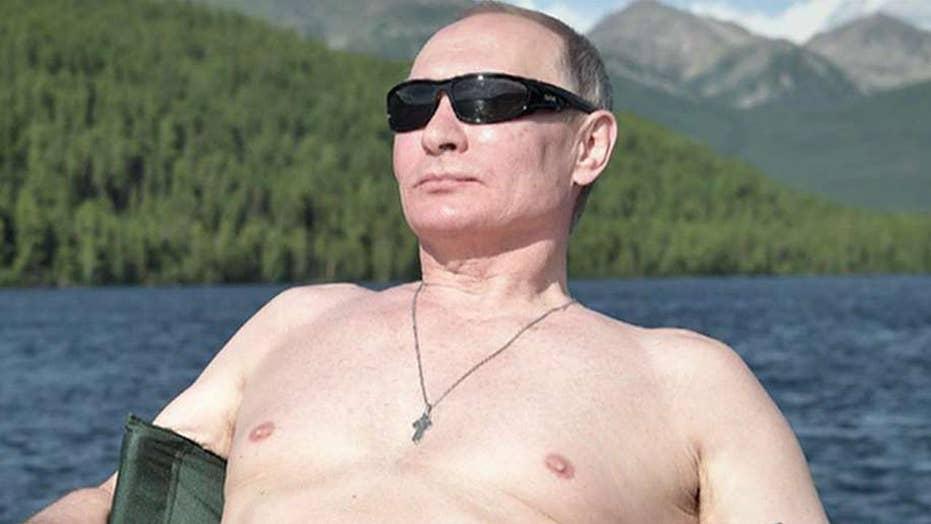 Putin vacationing shirtless in Siberia