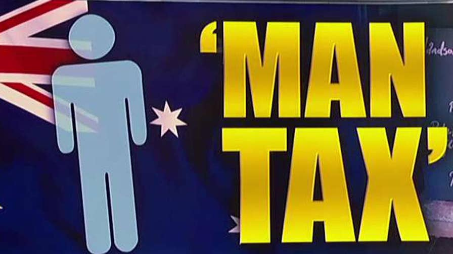 Charges male customers 18% tax