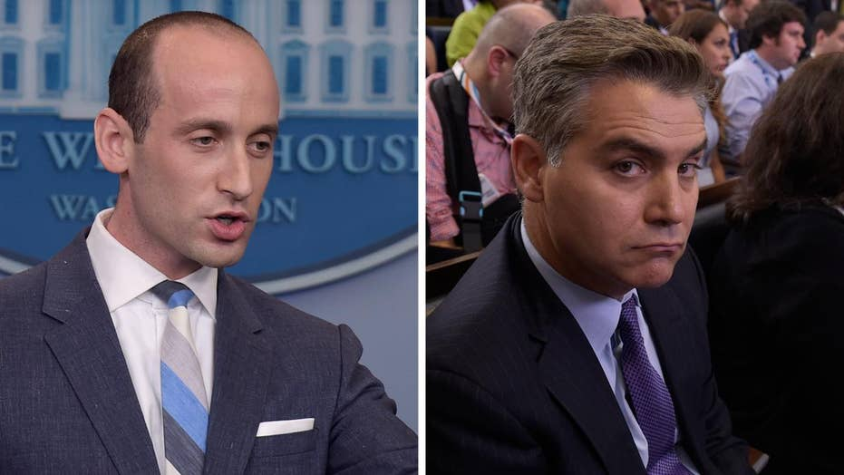 Jim Acosta, Stephen Miller rumble at the White House